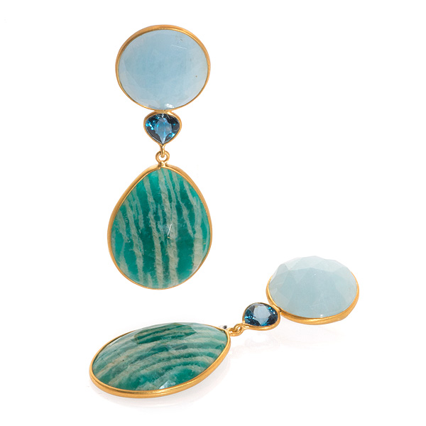 Bahina amazonite earrings