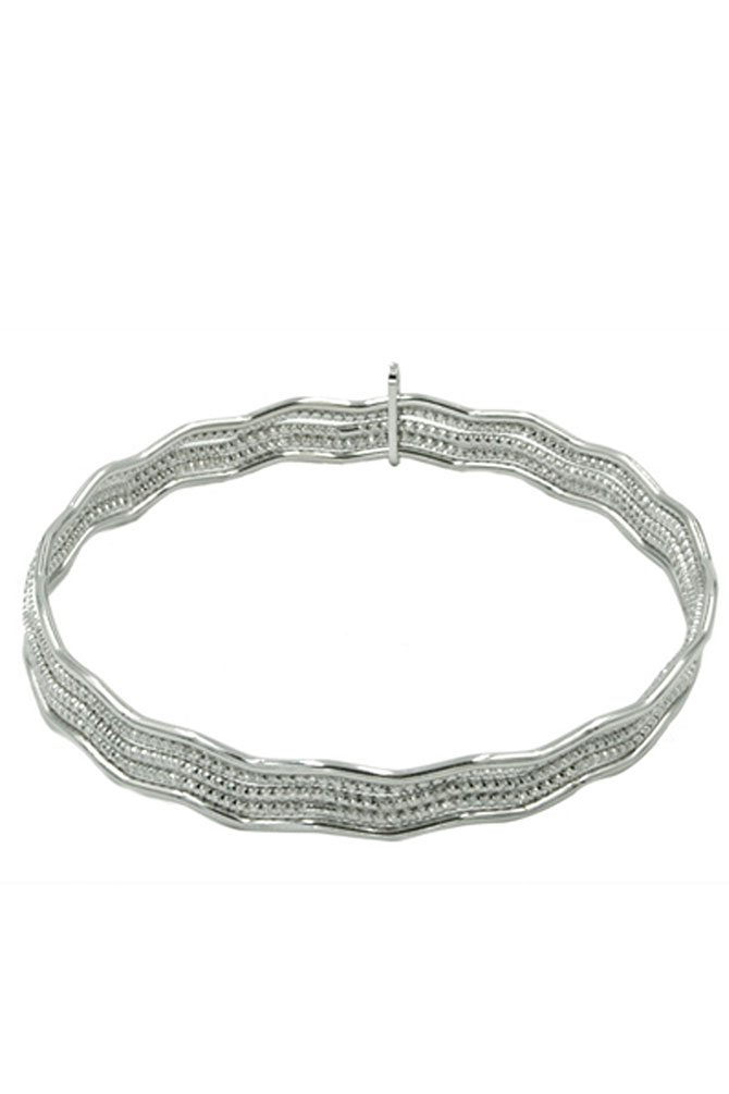 Frederic Duclos Five Waves Silver bangle