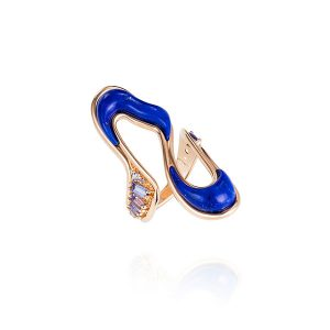 Fernando Jorge Stream Long Ring Tanzanite and Lapis