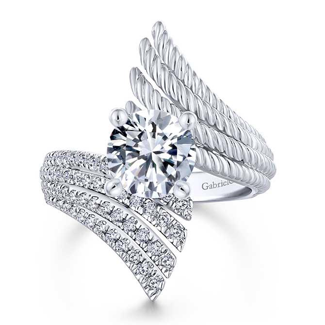 Gabriel NY Bypass Diamond Ring