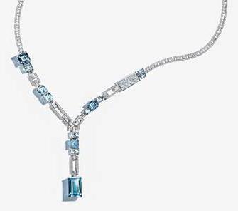 Tiffany and Co aquamarine necklace