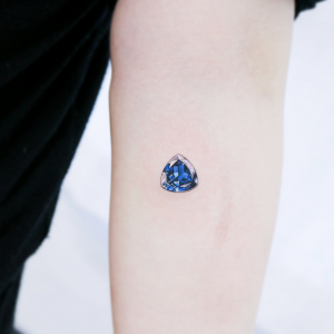 Gemstone tattoo from Instagram user heemee.tattoo