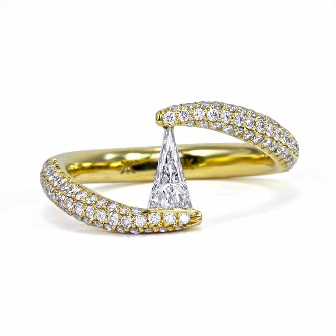 Khai Khai Diamond bypass ring
