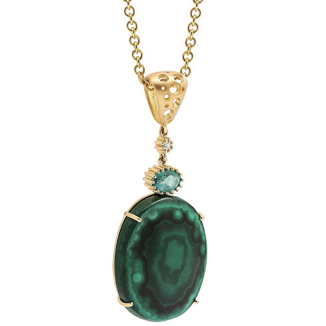 Dana Bronfman Earth Treasure malachite pendant