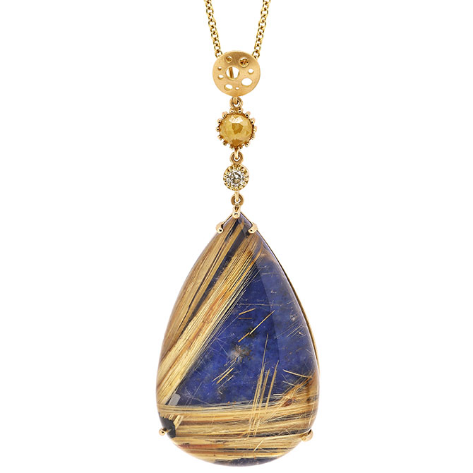 Dana Bronfman Earth Treasure lapis pendant