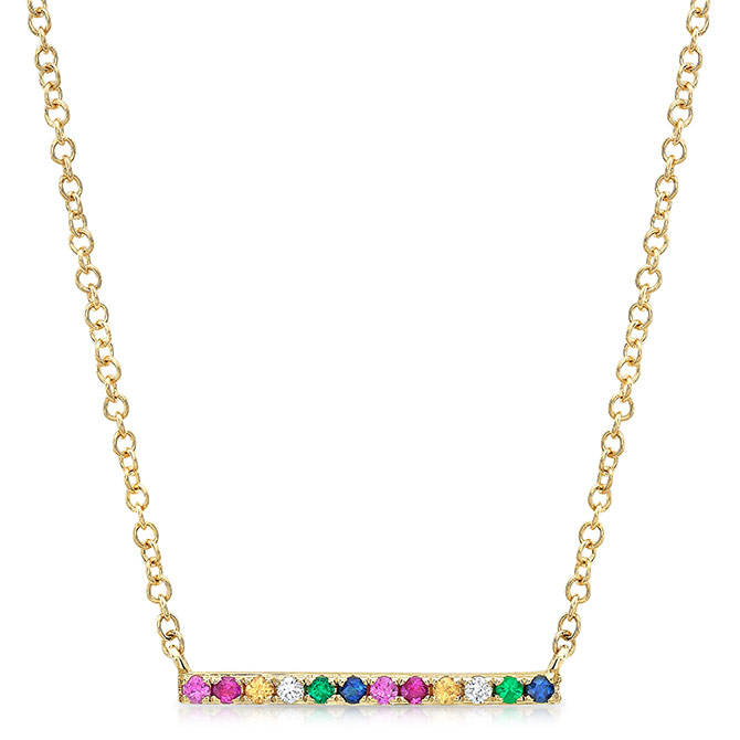 Majolie rainbow bar necklace
