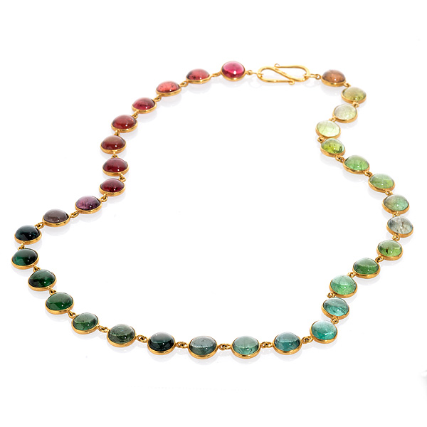 Bahina rainbow tourmaline necklace