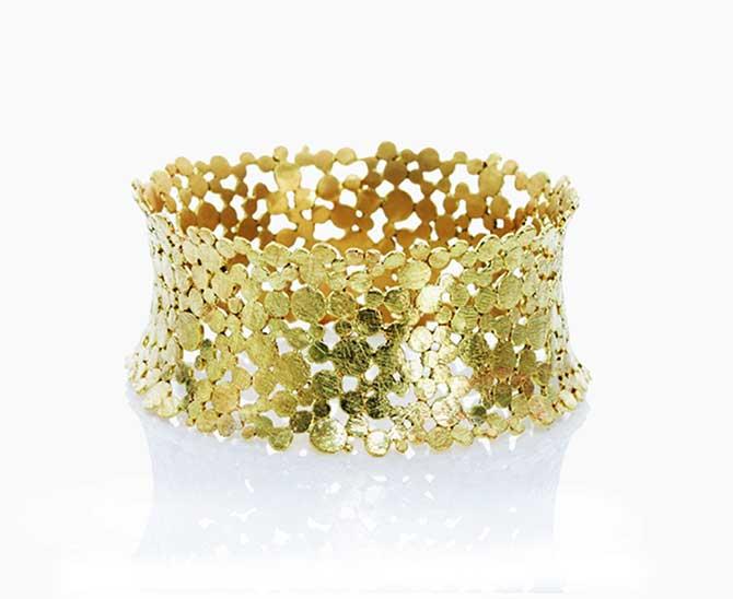 Nina Basharova gold plated cuff