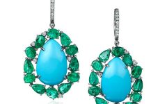 Nina Runsdorf emerald and turquoise earrings