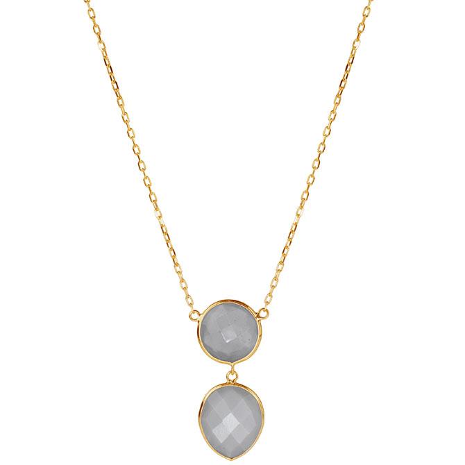 JewelMak gray moonstone pendant
