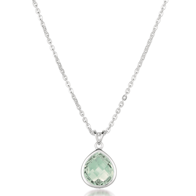 Thistle and Bee prasiolite pendant