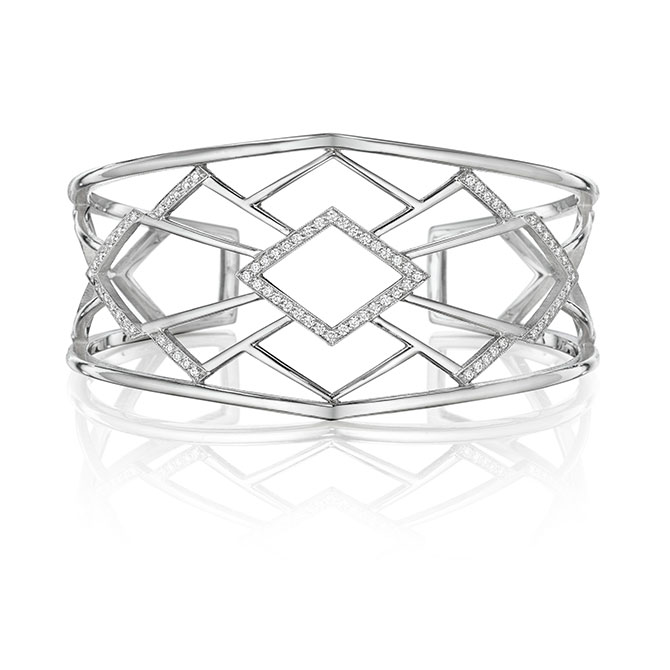 Penny Preville Art Deco diamond cuff