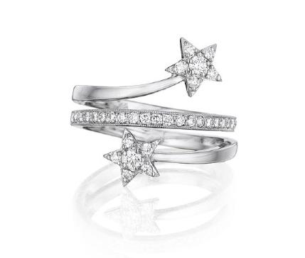 Penny Preville celestial star motif swirl ring