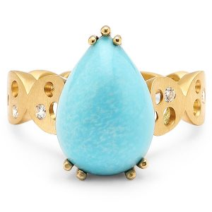 Dana Bronfman Earth Treasure turquoise ring