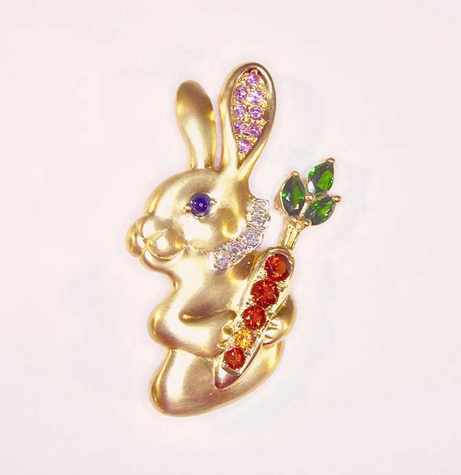 Remy Rotenier rabbit pendant brooch