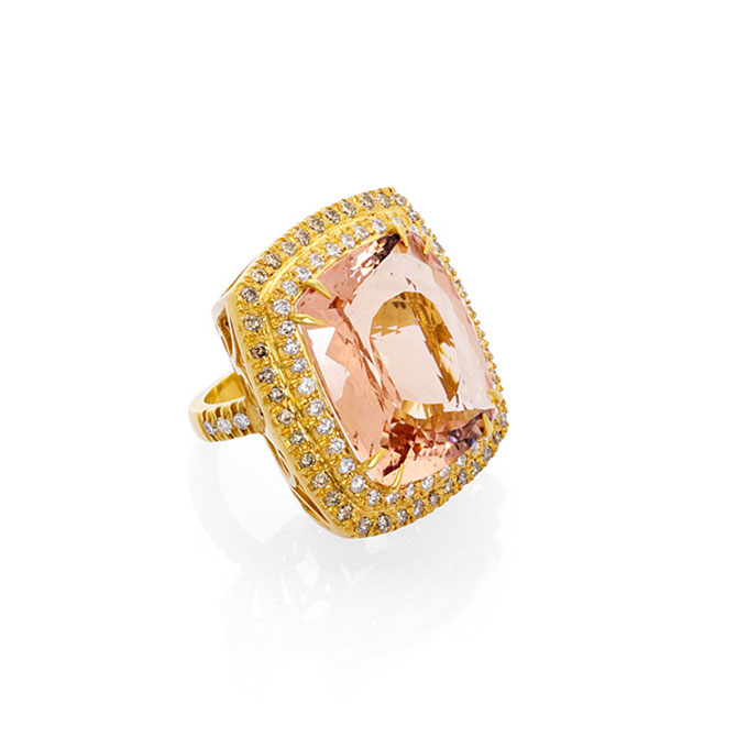 Bahina morganite ring