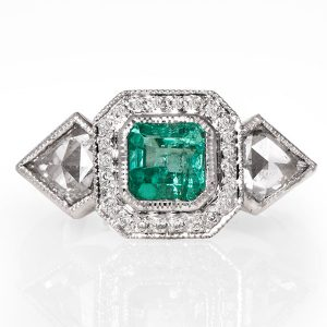 Just Jules emerald Commitments ring