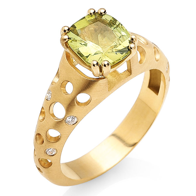 Dana Bronfman Earth Treasure chrysoberyl ring