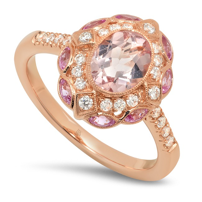 Beverley K morganite ring