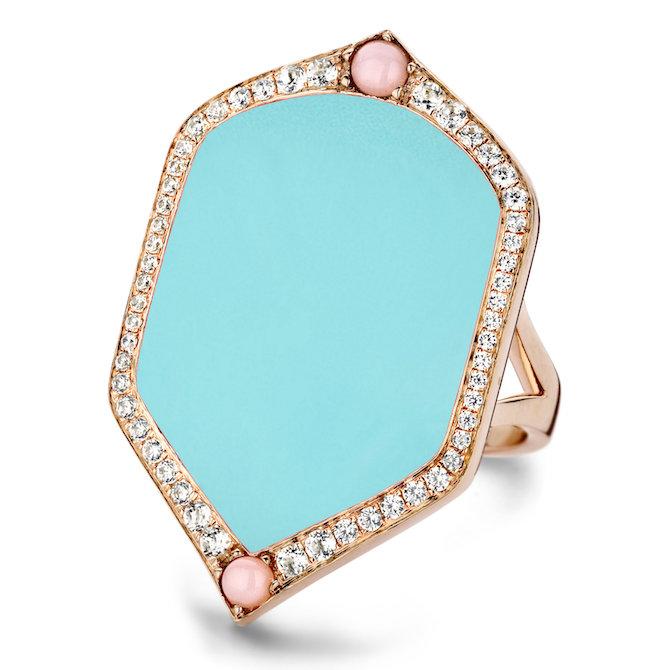 Joelle Summer Mood turquoise ring