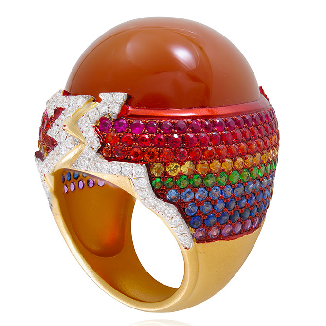 Lydia Courteille Rainbow Warrior ring