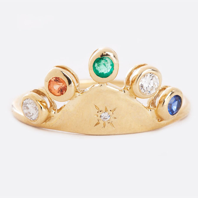 Scosha large tiara ring