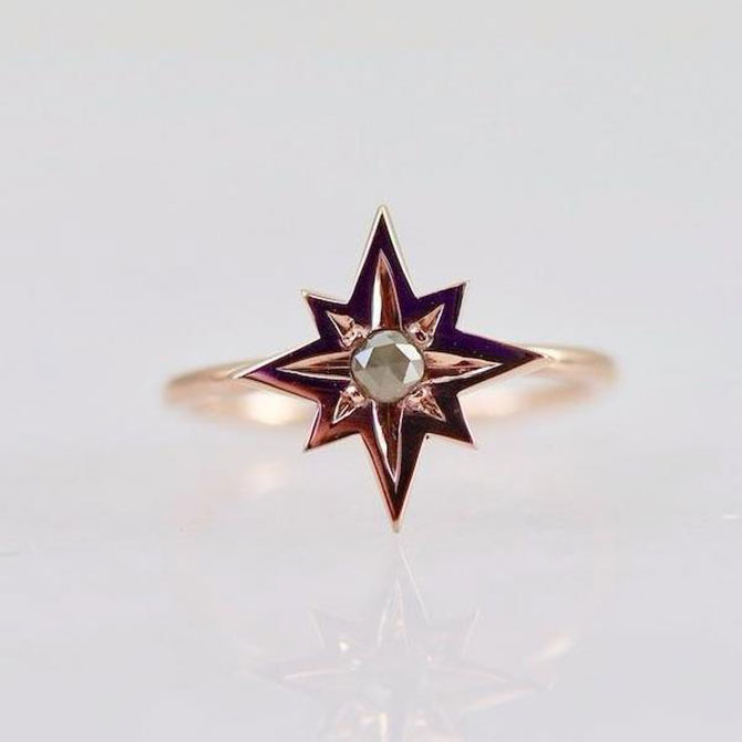 Ellie Air Starburst ring