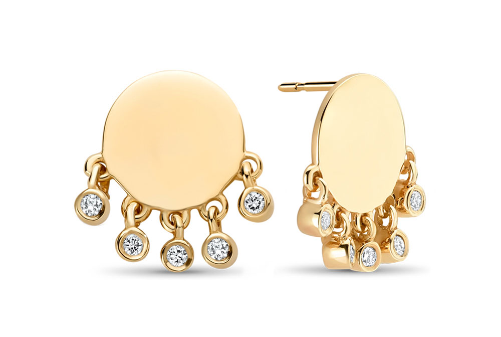 Lili Claspe x Ritani Shaker Disc earrings