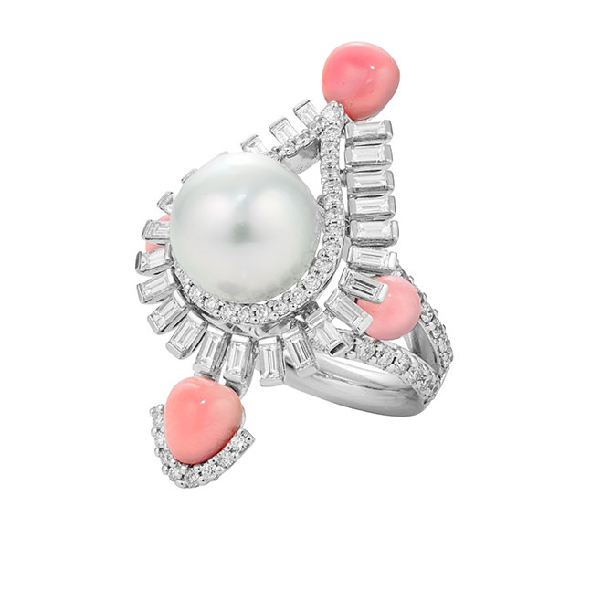Sarah Ho Persica Ring with conch pearls