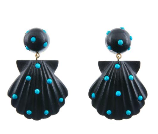Rebecca De Ravenel shell earrings