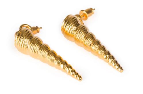 Tohum concha cone earrings