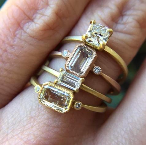 Jennifer Dawes flat shank ring