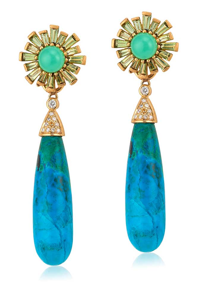 Theresa Kaz chrysocolla earrings