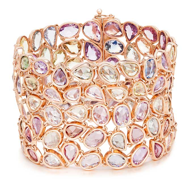 VTse rainbow sapphire bracelet