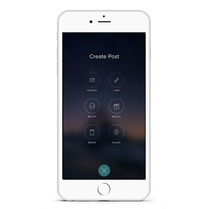 Vero iPhone CreatePost