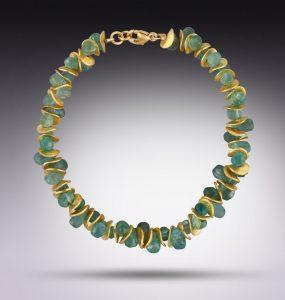 Lori Kaplan aqua-toned bracelet