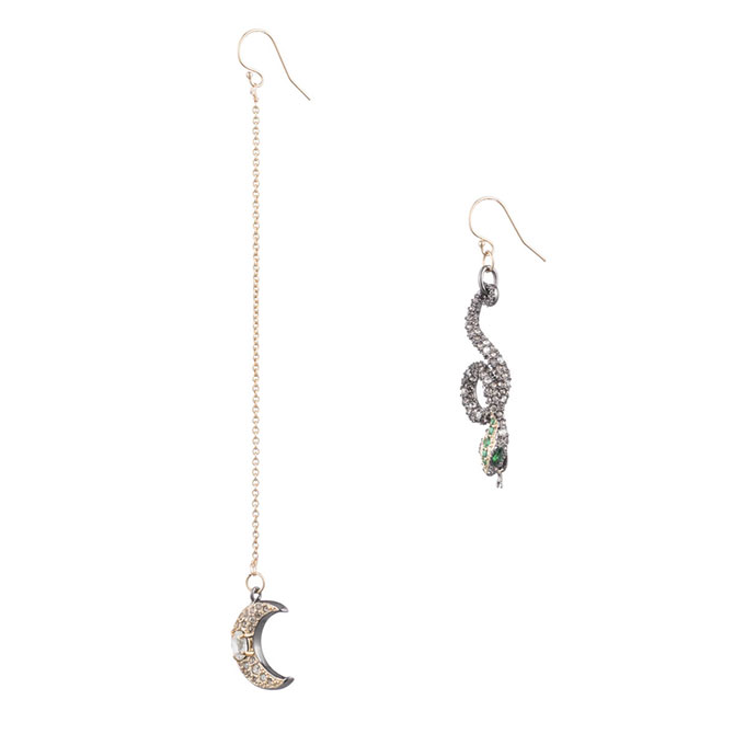 Alexis Bittar Mismatched Snake Earrings