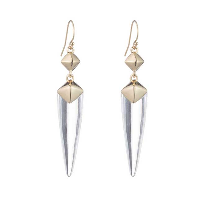 Alexis Bittar Pyramid Drop Earrings