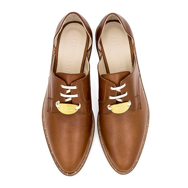 Ariel Gordon x Freda Salvador brown shoes