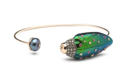 Bibi Van Der Velden scarab bracelet