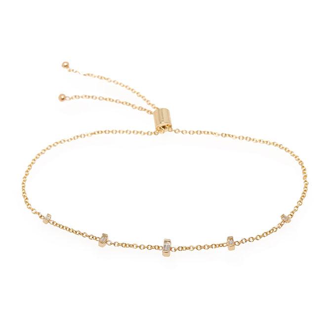 Zoe Chicco diamond bolo bracelet