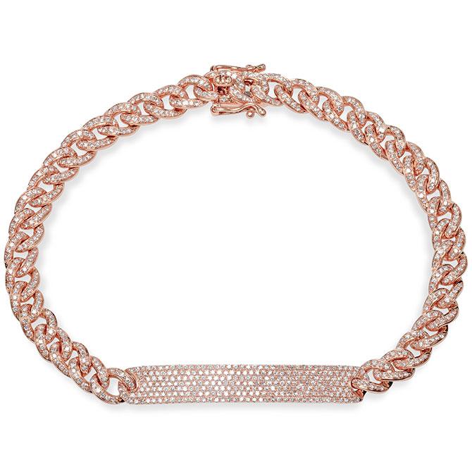 Shy Creation diamond link bracelet