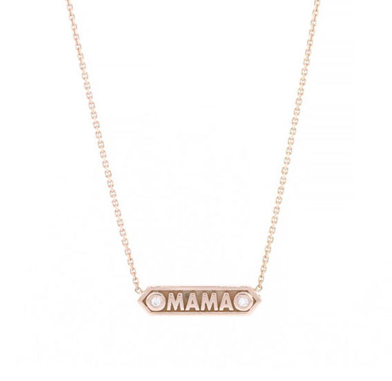 Dowry Mama plaque necklace