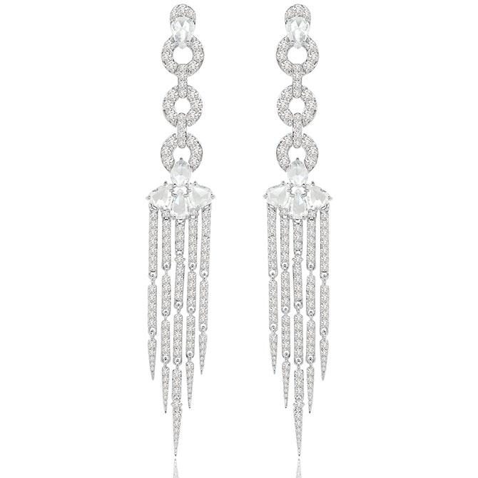 Sutra Tassel collection diamond earrings