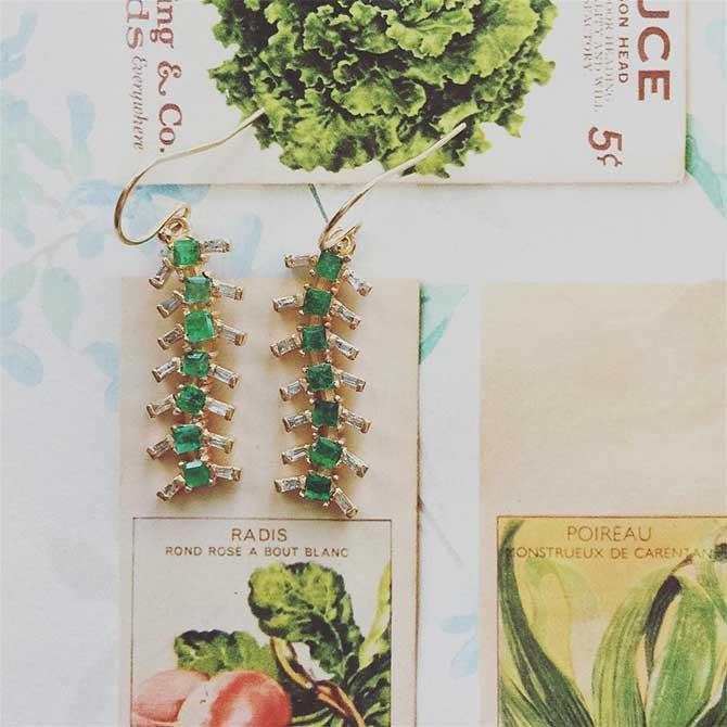 Eva Noga Caterpillar Dangle Earrings