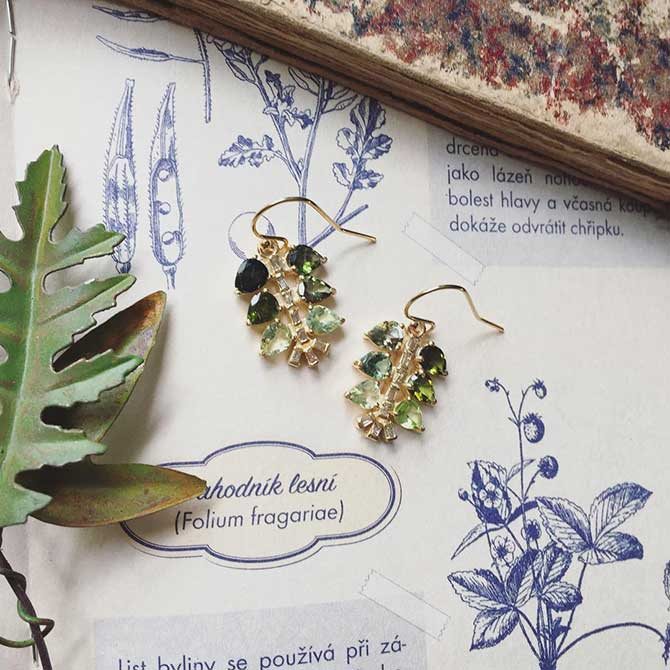Eva Noga Green Tourmaline Earrings