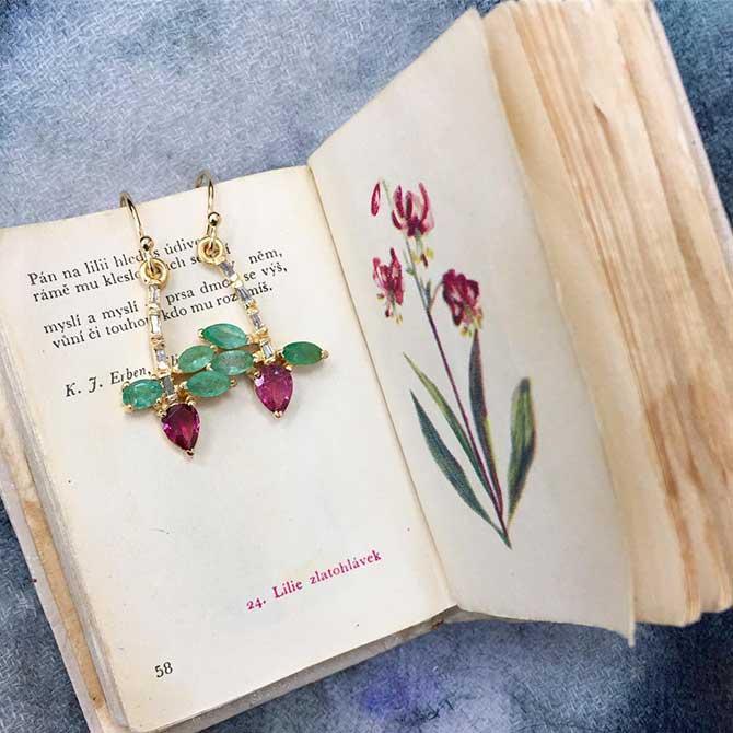 Eva Noga Orchid Earrings