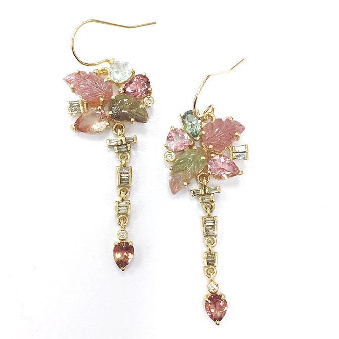 Eva Noga Tourmaline and DIamond Earrings