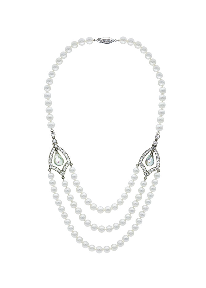 Featherstone Gothic Window Pearl Necklace