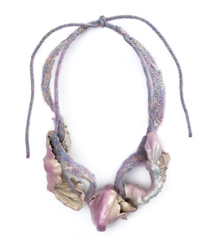 Ineke Heerkens necklace purple